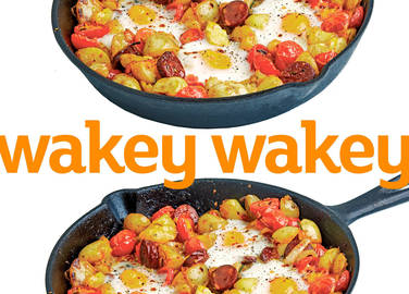 Image: Skillet potatoes with chorizo and eggs