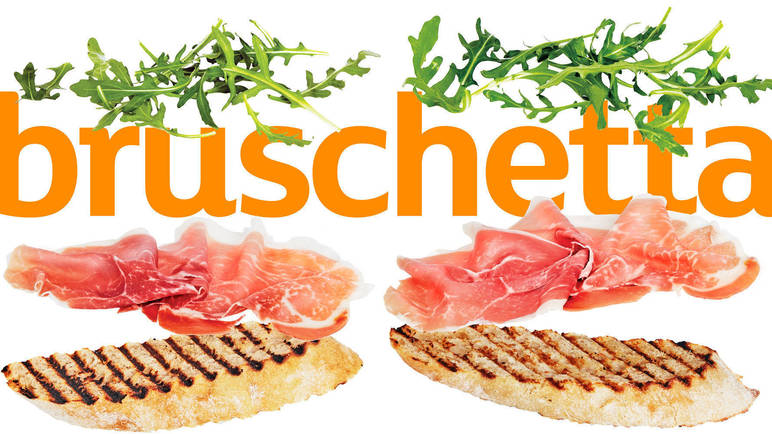 Image: Bruschetta with parma ham and rocket