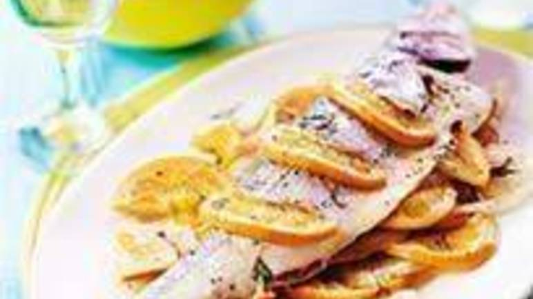 Large image for Sainsbury's Sea bass stuffed with fennel and dill recipe