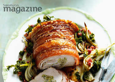 Italian stuffed roast pork