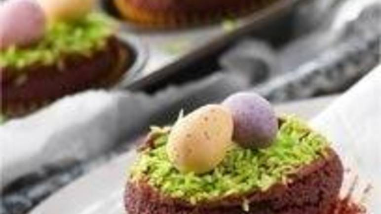 Large image for Cadbury mini egg cupcakes recipe on Sainsbury's Online
