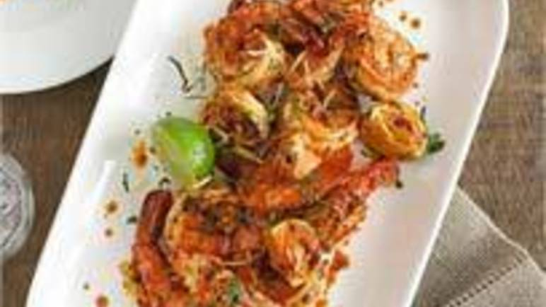 Large image for fiery tiger prawns recipe.