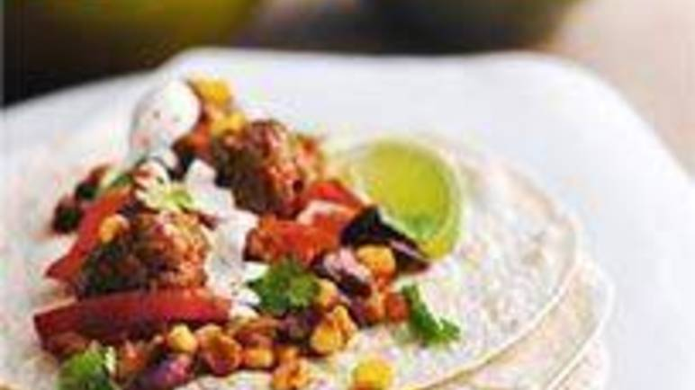 Large image for Sainsbury's Mexican-style meatball wraps recipe