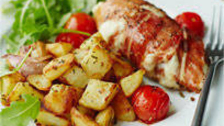 Large image for Jo Pratt's Italian chicken with rosemary potatoes recipe.