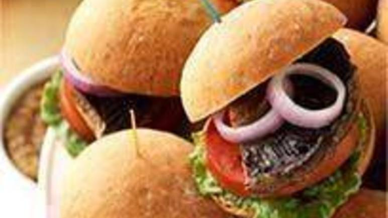 Large image for Mini mushroom burgers recipe