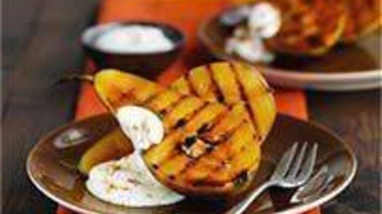Large image for Sainsbury's Griddled cinnamon pears recipe