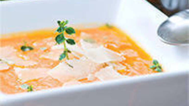 Large image for Pumpkin and Parmesansoup recipe on Sainsbury's Online