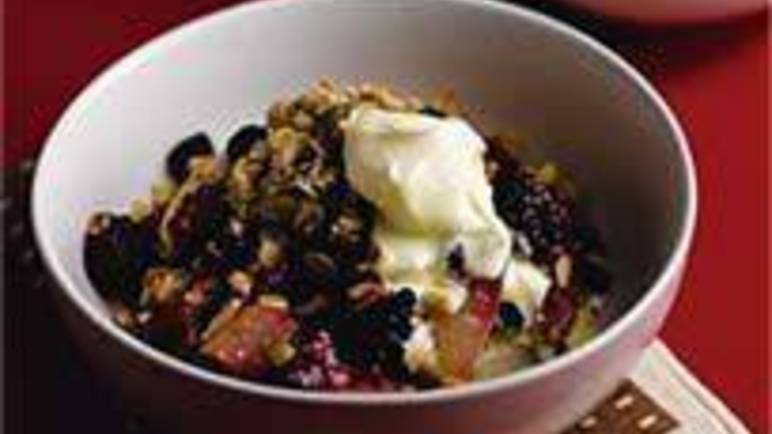 Large image for Sainsbury's Autumn fruit and nut crumble recipe