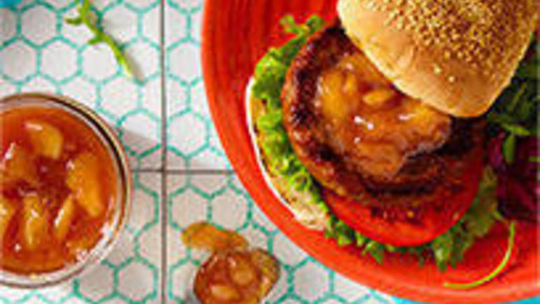 Large image for Beef burger recipe with a mango chutney twist recipe