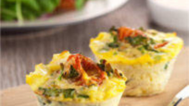 Large image for Tuna and spinach frittatas recipe from Sainsbury's online