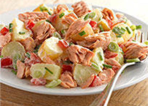 Large image for Princes pink salmon and potato salad recipe on Sainsbury's Online