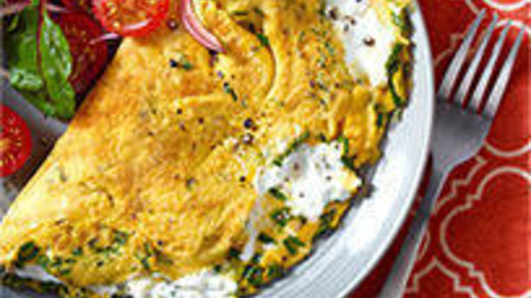 Large image for Omelette recipe with a goat's cheese twist recipe