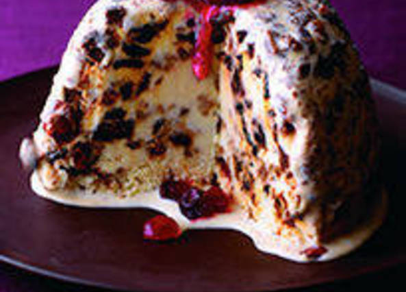Large image for Christmas cake ice cream from Sainsbury's online