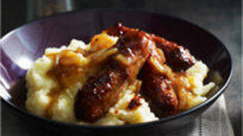 Large image for Sainsbury's Cumberland sausages with parsnip and apple mash recipe