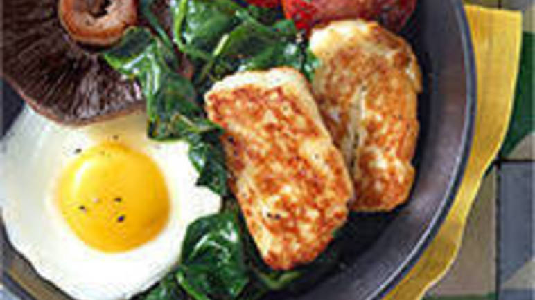 Large image for Classic fry-up recipe with a halloumi twist recipe