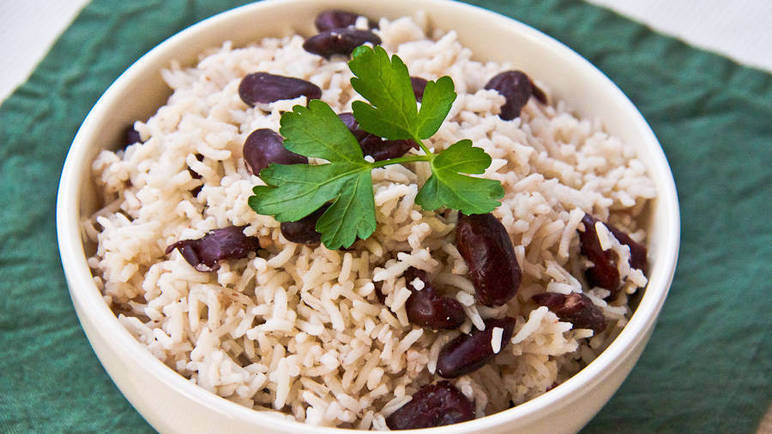 Large image for Rice and peas recipe on Sainsbury's Online