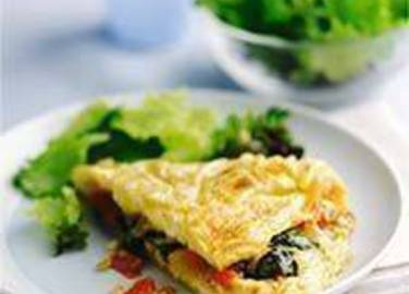 Large image for Sainsbury's Giant spinach and cheddar omelette recipe
