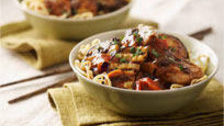 Large image for Pork, aubergine and black bean sauce recipe on Sainsbury's Online