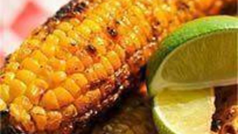 Large image for Sainsbury's Chargrilled corn on the cob with chilli and herb butter recipe