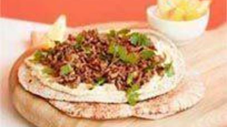Large image for Sainsbury's Lamb flatbreads with houmous recipe