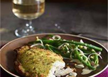 Large image for Sainsbury's Lemon sole with shallots and lemon-dressed green beans recipe