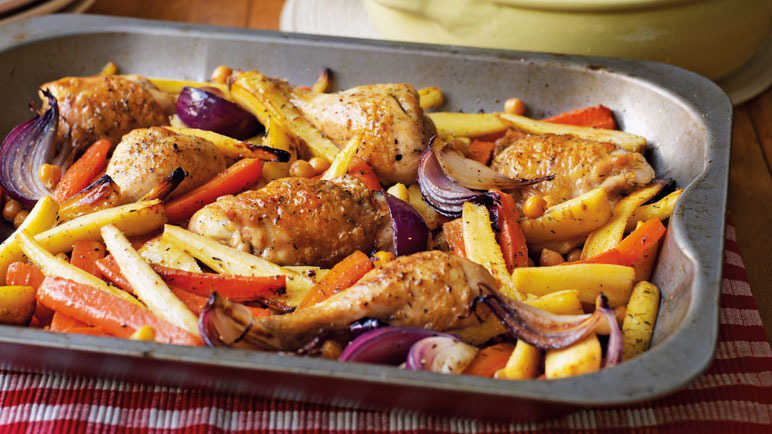Chicken with roasted vegetable image