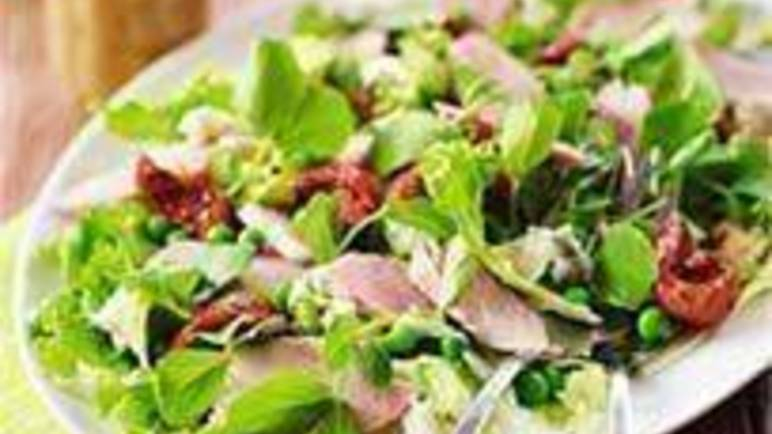 Large image for Sainsbury's Ham, dolcelatte and pea salad recipe