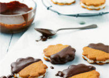 Large image for Philadelphia, caramel and dark chocolate biscuits recipe on Sainsbury's Online