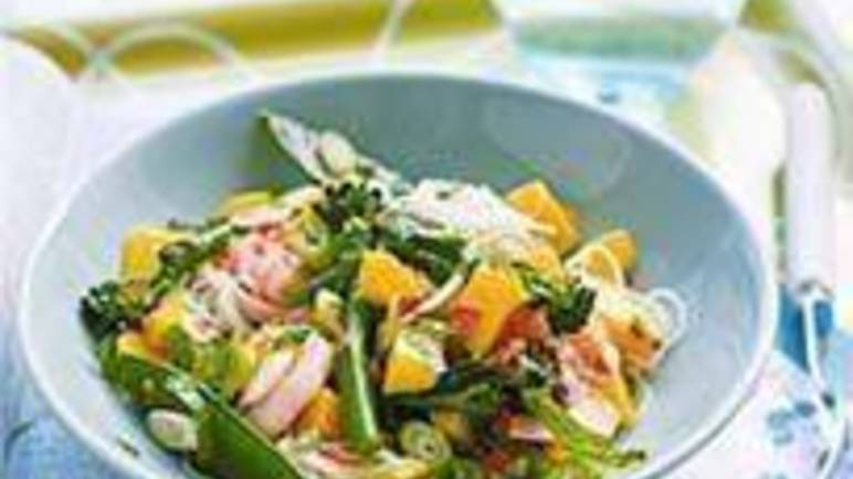 Large image for Sainsbury's Prawn, mango and noodle salad recipe