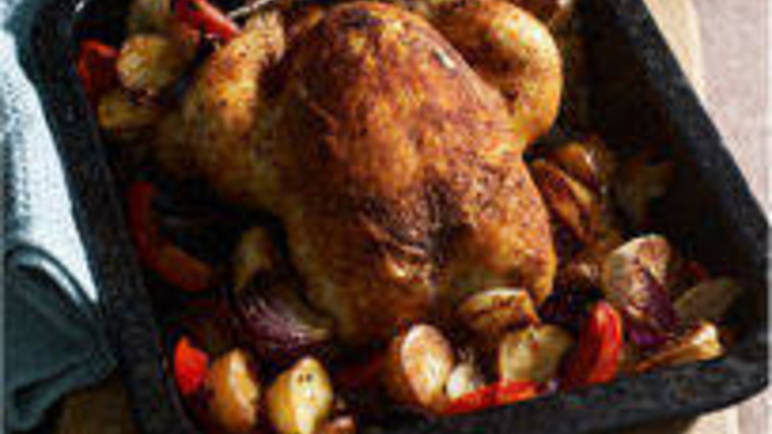 Large image for Cajun chicken with roasted vegetables recipe