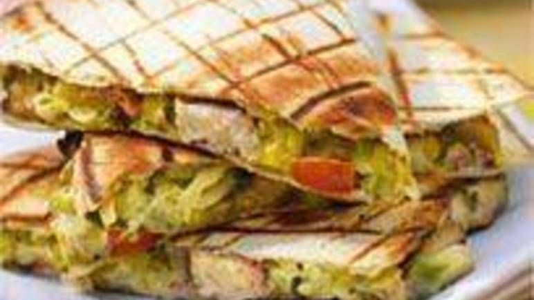 Large image for Sainsbury's Chicken and avocado barbecue quesadillas recipe