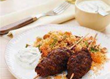 Large image for Sainsbury's Moroccan beef koftas with fruity cous cous recipe