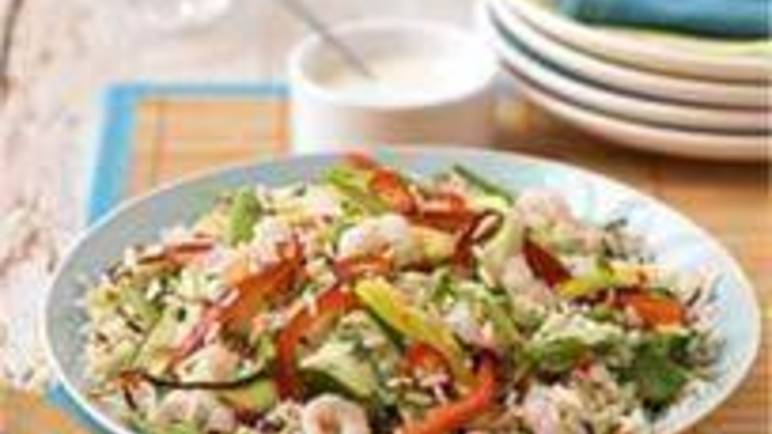 Large image for Sainsbury's Chilli, mango and prawn salad recipe