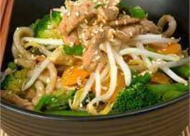 Large image for Thai-style pork stir-fry recipe.