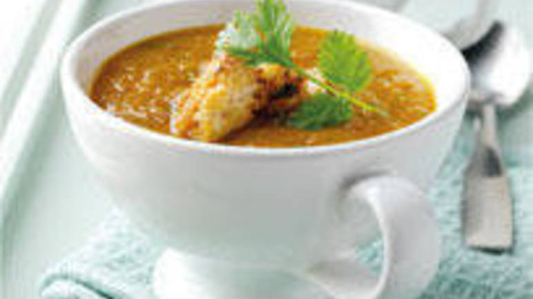 Large image for Carrot and coriander soup recipe on Sainsbury's Online
