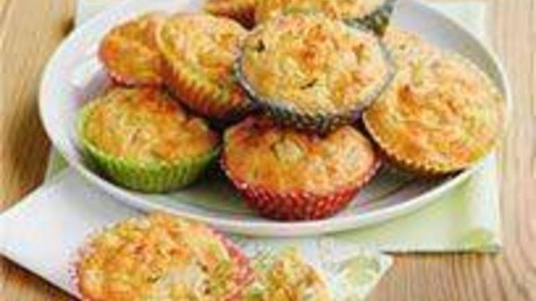 Large image for Sainsbury's Cheddar and sweetcorn cupcakes recipe