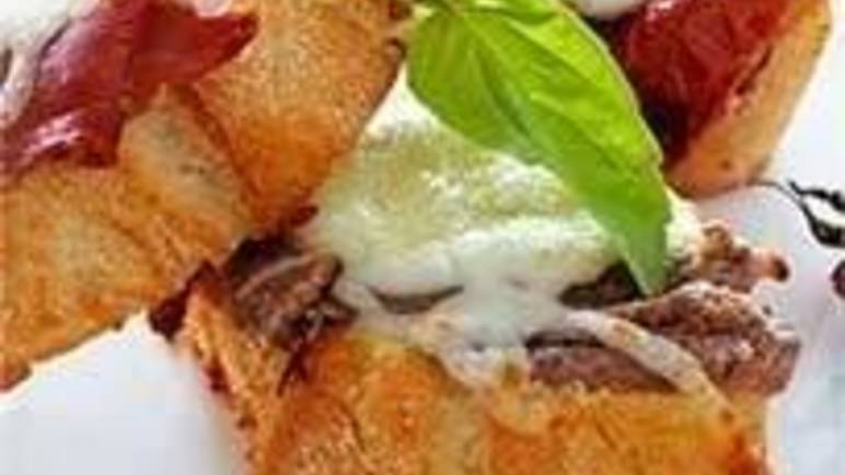 Large image for Italian bruschetta selection recipe.