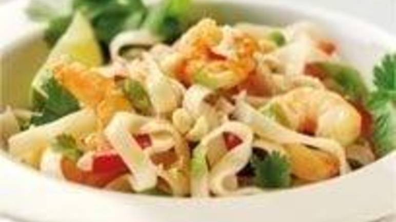 Large image for Thai prawn and coriander noodle salad recipe.