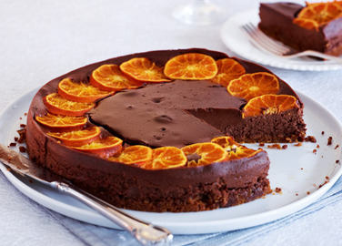 Chocolate & clementine cheesecake image