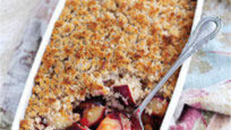 Large image for Wholewheat South African plum crisp recipe on Sainsbury's Online