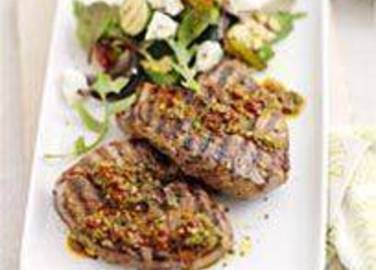 Large image for Sainsbury's Lamb steaks with chilli pesto recipe