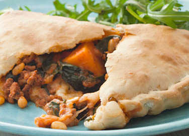 Beef and spinach calzone image