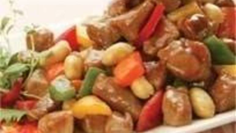 Large image for stir-fried pork in Hoisin sauce recipe.