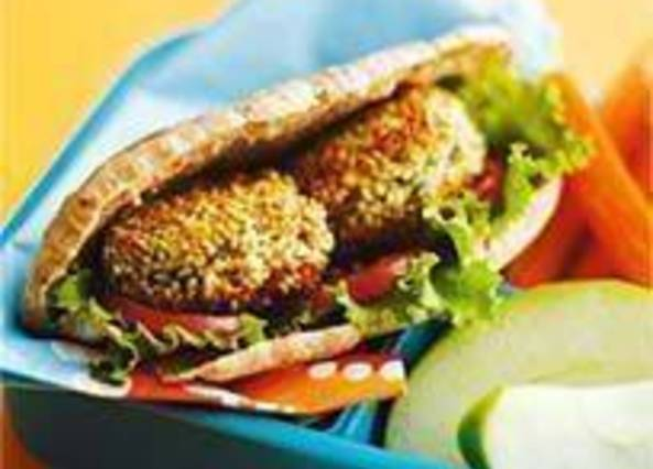 Large image for Sainsbury's White bean falafel recipe