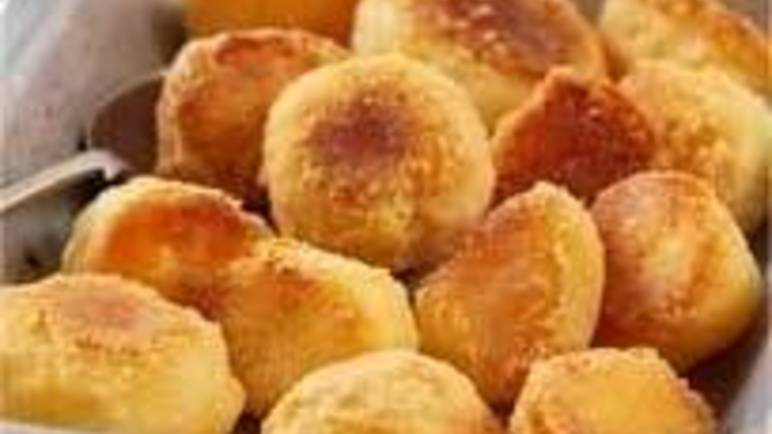 Large image for crunchy goose fat potatoes recipe.