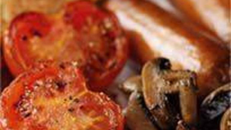Large image for Sainsbury's Sausages, mushrooms, tomatoes and fried bread recipe