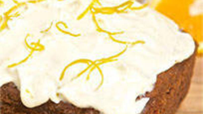 Large image for Beetroot cake with orange frosting recipe on Sainsbury's online
