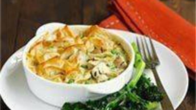 Large image for Sainsbury's Chicken and leek pot pies recipe
