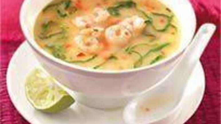Large image for Sainsbury's Thai prawn soup recipe