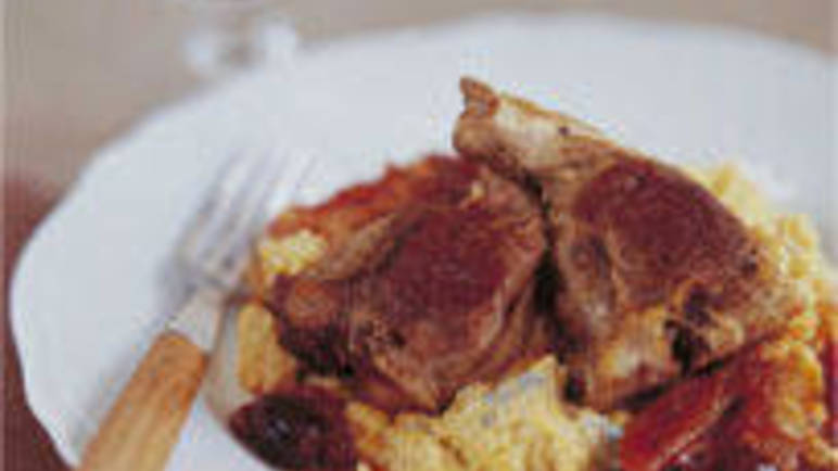 Large image for Italian style lamb loin chops recipe.